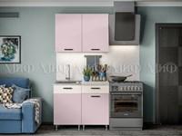 Кухня Рио розовая 1,0 м.