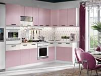 Кухня Рио розовая 3000*1400 мм.