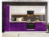Кухонный гарнитур Техно-3 аметист/белый глянец холодный