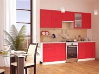 Кухонный гарнитур Техно красный металлик 2,2 м.