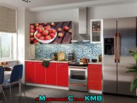 Купить кухня клубника фортуна 2,0 метра фабрика МИФ мебельскладкмв.рф