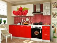 Купить кухню малина 2 метра белый фабрика миф мебельскладкмв.рф