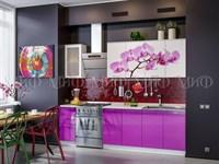 Купить кухню Орхидея Фиолетовая 2 метра белый фабрика миф мебельскладкмв.рф