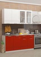 купить кухню волна красная 1,6 метра фабрика миф мебельскладкмв.рф